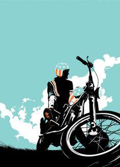 Matt Taylor illustration, moto
