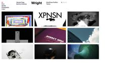 Wright - Minimal Portfolio Theme for WordPress #portfolio #design #based #website #grid #photography #minimal #art #wordpress