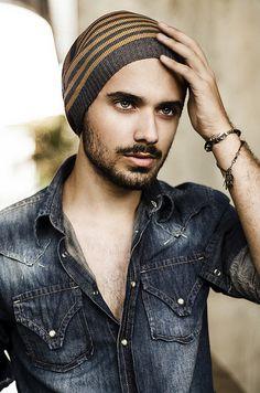 Vinicius Luiz by Guilherme Benites #sexy #boy #bonnet #ancor #portrait #fashion #jeans
