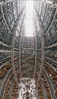 CJWHO ™ (Lloyds Building Interior by Louis du Mont The...) #angle #uk #perspective #london #design #lloyds #photography #architecture #wide #building #awesome