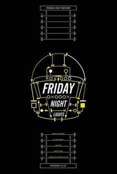 Friday Night Lights – 2004 [My Film Poster] » Might&Wonder #friday #lights #night #cinema #poster #film
