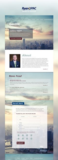 Ryan PAC - Alex Jefferson #website #layout #design #web