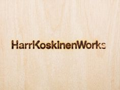 Harri Koskinen Works on the Behance Network #harri #burnt #koskinen #identity #logo