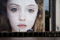 by Gottfried Helnwein #face #photography #mural #girl