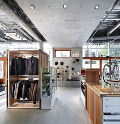 kikuchi by schemata architects #concrete #store #wood #retail #style
