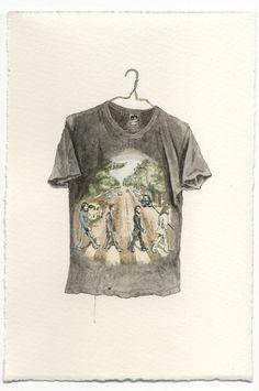 Art Sponge I Inspirational Visual Art #mark #beatles #rock #tshirt #patch #portrait #hall #concert #watercolour