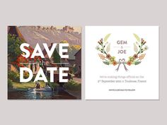 Save The Date #typography #save the date #wedding