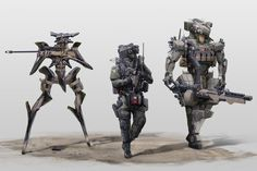 Teamby ~StTheo #robot #war #illustration #battle #mech