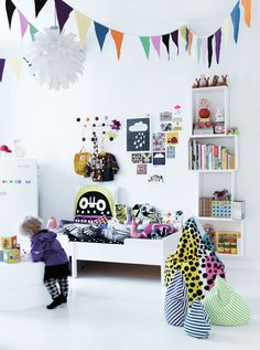 Simple kids room interior