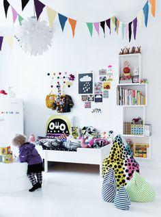 Simple kids room interior