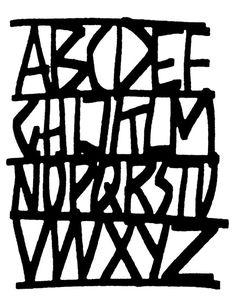 Drawings of #letterforms by #CyrusHighsmith #type