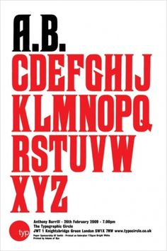 Anthony Burrill - Lecture poster -Â The Typographic Circle 2009 #burrill #lecture #anthony #poster #typography