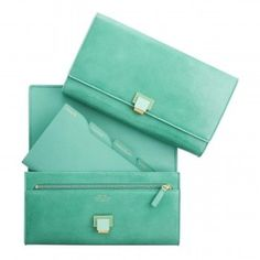 Travel Clutch, Jade collection, Travel, Smythson #cluth #smythson #jade #collection #travel