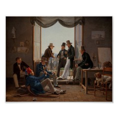 A Group of Danish Artists in Rome Fine Art Poster