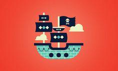 Cherry Bomb: Innovación Lectora Series / on Design Work Life #pirates #illustration