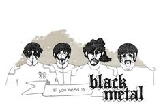 sparganum #the beatles #metal #illustraion