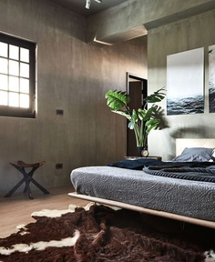 Industrial Decor and Japanese Lifestyle Interplay in Apartment by HAO Design - InteriorZine