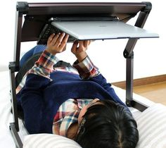 Lying Down Laptop Stand #stand #laptop