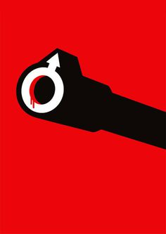 Untitled, by Noma Bar #inspiration #creative #red #design #graphic #illustration #male #violence