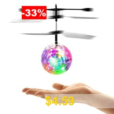 Induction #Colorful #Lamp #Flying #Ball #Helicopter #- #WHITE
