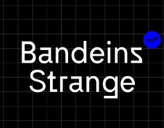 Bandeins Strange is a simple, modern sans serif typeface which reverses curves and edges to create a harmonious but also strange impression that gives the font a unique personality. Designed by Maximilian Müsgens. The complete specimen on www.type.bandeins.de more on www.bandeins.de #font #typeface #typedesign #sansserif #design #typography #typodesign #type #grotesque #typefoundry #typeeins #bandeins #minmal #modern #variable #variablefonts #variablefont #blackandwhite #blackdesign