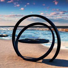 Kara Grill by Cesarre - Other #rings #sculpture #water #loops #sea #circle #beach #coast