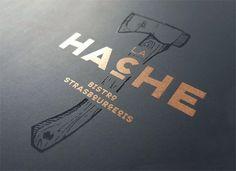 La Hache #bistro #branding #design #identity #hatchet #logo