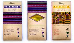 Citizens Dark Chocolate on the Behance Network #bolivia #ghana #packaging #wrap #chocolate #flavour #cadbury #ethnic