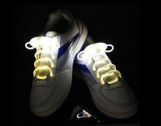 White Flammi LED Shoelaces