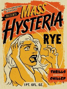 Mass Hysteria Rye #beer #bottle #label #packaging