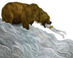 Jorge Mascarenhas #illustrator #paint #illustration #man #bear