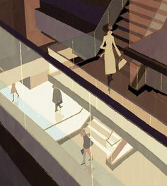 jj222.jpg (514×575) #stairs #perspectives #illustration #art