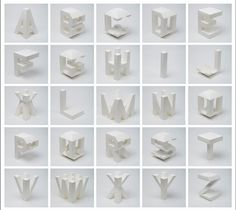 4D Type design by Lo Siento Studio, Barcelona