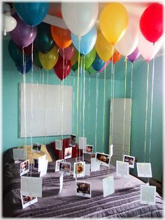 Lovely Green Lifestyle: Best 30th Birthday Gift for the Best Boyfriend #pictures #balloons #gifts #unique #gift #birthday