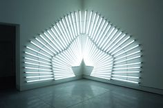 Sunset : Yochai Matos #matos #installation #fluorescent #art #yochai #light