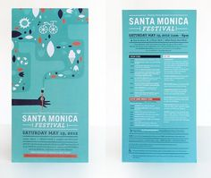 Ludlow Kingsley | Work | Santa Monica Festival #design #graphic
