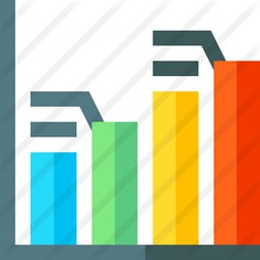 See more icon inspiration related to business and finance, bars chart, stats, bar graph, statistics, graph and graphic on Flaticon.