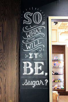 Lolli and Pops Chalk Wall: Glendale, CA #lettering #chalk #art #hand #typography