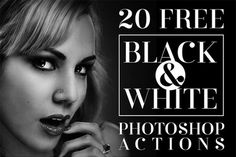 20 Free Black & White Photoshop Actions