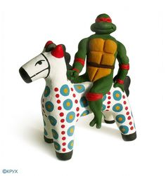 All sizes | Ceramics / sculpture / Okruch / Окрух | Flickr - Photo Sharing! #turtle #horse #folk