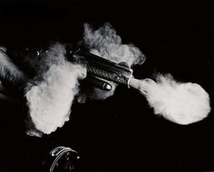 Today's Photograph - mashKULTURE #weapon #white #smoke #shooting #pistol #gun #black #and