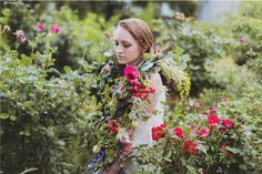 flowergarden #red #hipster #floral #bride #photography #soft #fashion #wedding #kinfolk #flowers