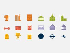London map icons #flat #vector #iconset #icon #london #icons #map #clean #illustration