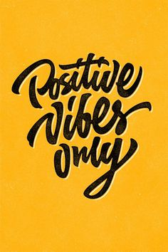 Positive Vibes Only by Sergio Malashenko #inspiration #poster #typography