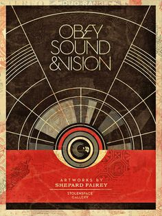 Sound #vintage #obey #shepard fairey #red black