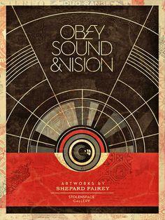 Sound #vintage #obey #shepard fairey #red black