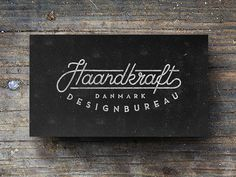 Haandkraft business cards #business #hand #made #type #cards #typography