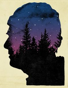 After The Bear - David Wilson Illustration #trees #illustration #editorial #profile