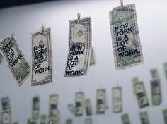 this isn't happiness.™ #exhibition #display #money #typography