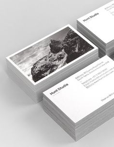 Hunt Studio #graphic design #branding #business cards